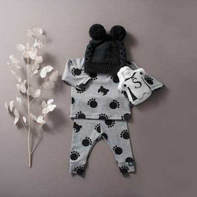 Cute Bear outfit with Paw Print