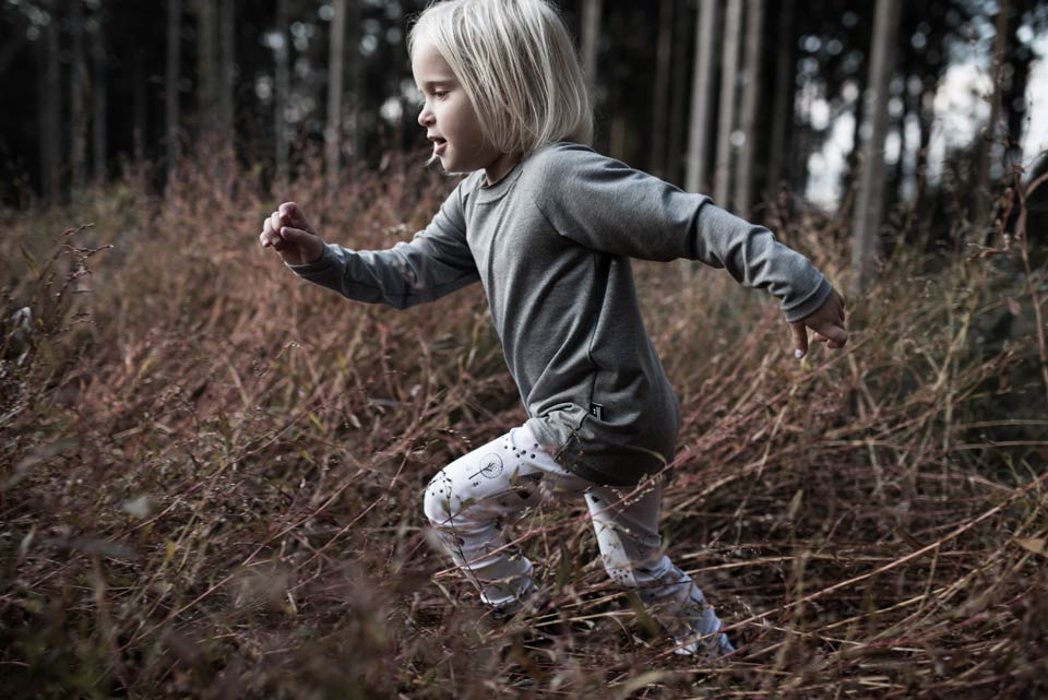 Handmade Grey shirt with Forest Leggings