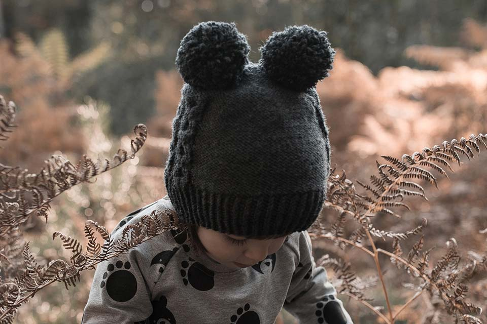 Handmade Bear Beanie for Toddlers and Kids