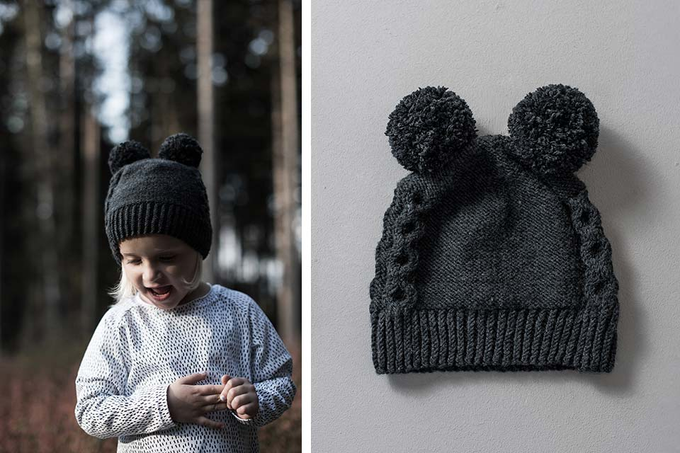 Cute Bear Beanie for Toddlers and Kids