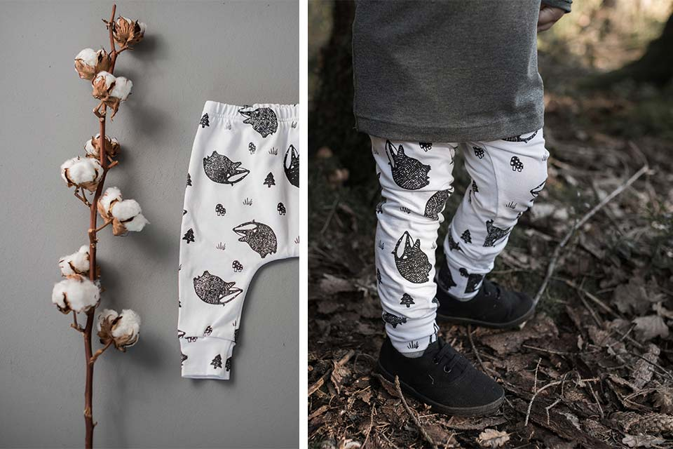Cute Handmade Rolling Badger Leggings
